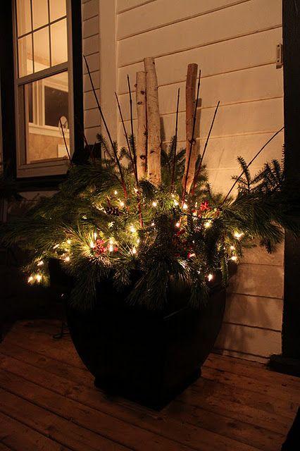 Modern Jane Outdoor Pots Weekend Tidbits Winter Planter Christmas Planters Outdoor Pots