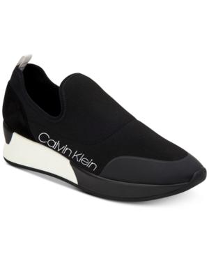 Calvin Klein Women S Que Knit Sneakers Black 5 5m Comfortable Black Shoes Sneakers Fashion Knit Sneakers