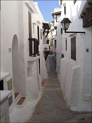 Menorca. Binibeca - I have stayed in two of these little cottages many times thanks to a generous friend. Many, many wonderful times here.