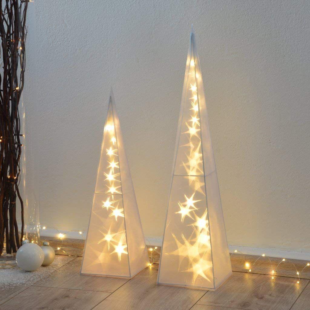Weihnachtsdeko Geschenke.Intrendu 1 X 60cm 3d Hologramm Weihnachtspyramide 60cm