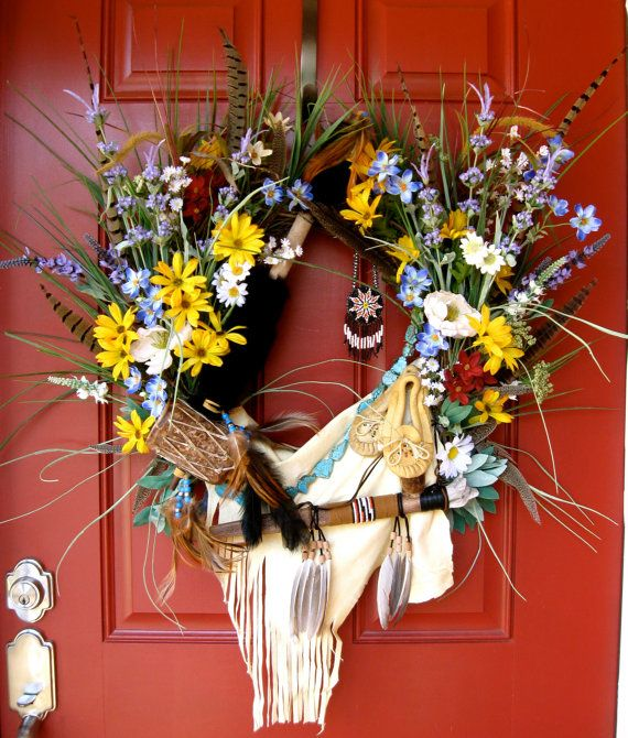 Native american indian wreath x large wall decoration for American indian decoration