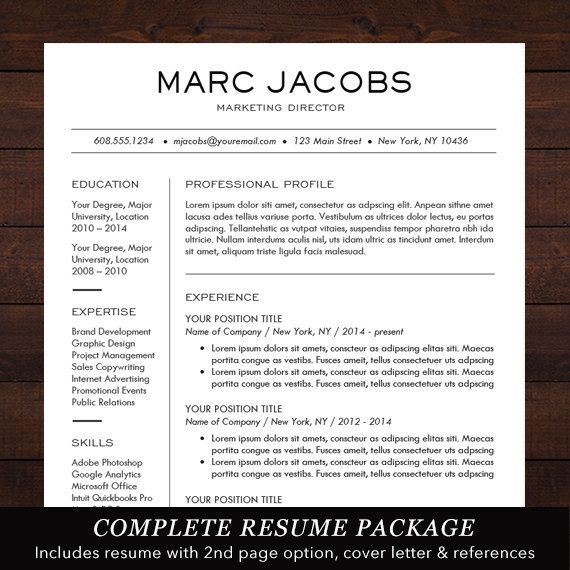 Modern resume template cv template for word mac or pc resume template professional creative and modern design with free cover letter word template for mac or pc the jacobs spiritdancerdesigns Choice Image
