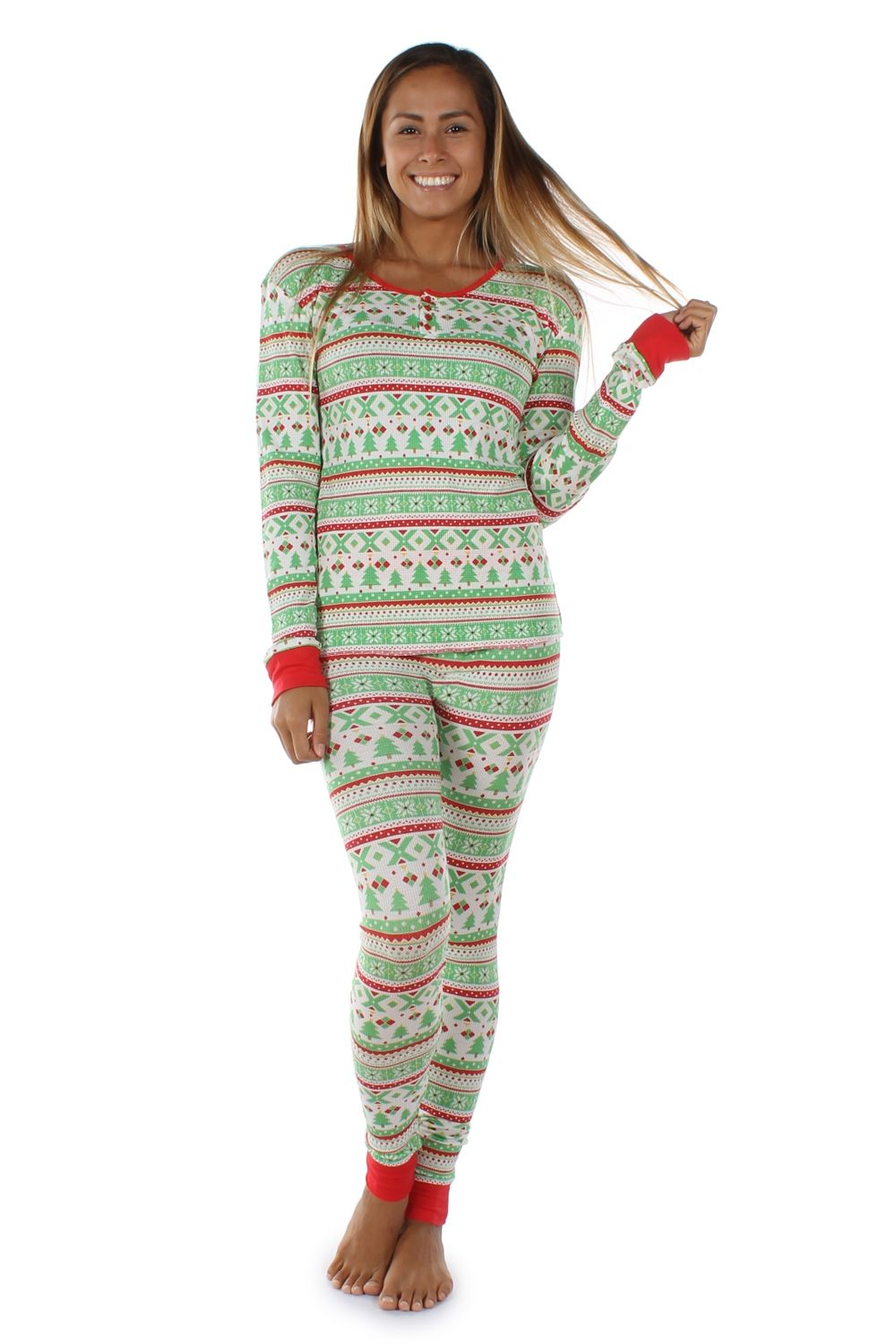 Women's Fair Isle Pajama Set Pajama set, Women