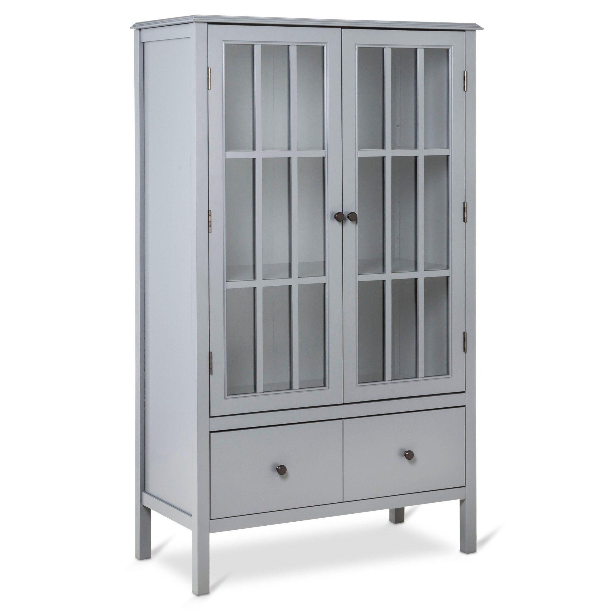 Windham Tall Storage with Drawer Gray Threshold