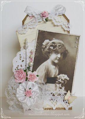 Vintage Tag Pion - Marinas Karten-Kiste: Vintage-Tag