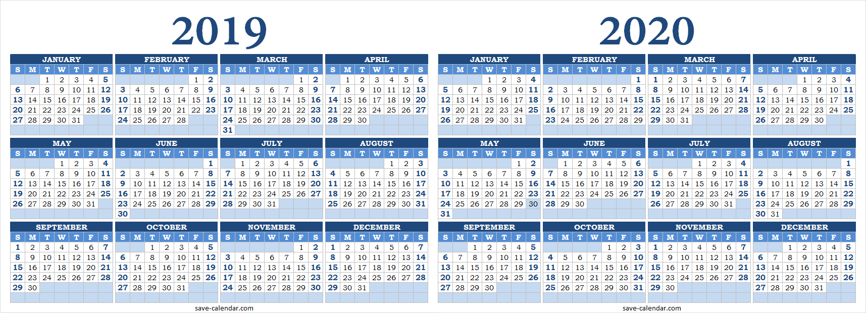 Schedule Calendar 2020 2019 2020 Calendar Blank | 2019 Calendar | Templates printable