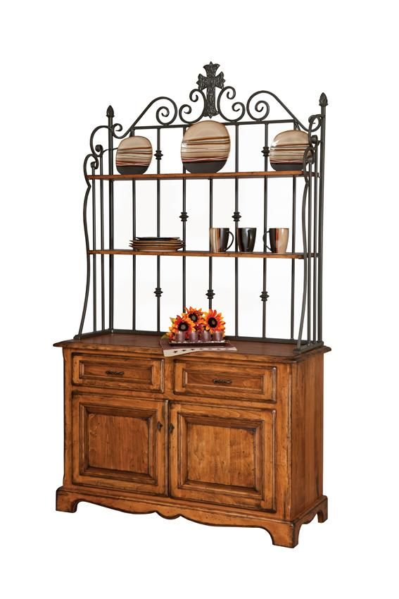 Amish Jasper French Country Rustic Buffet Solid Wood Dining Room