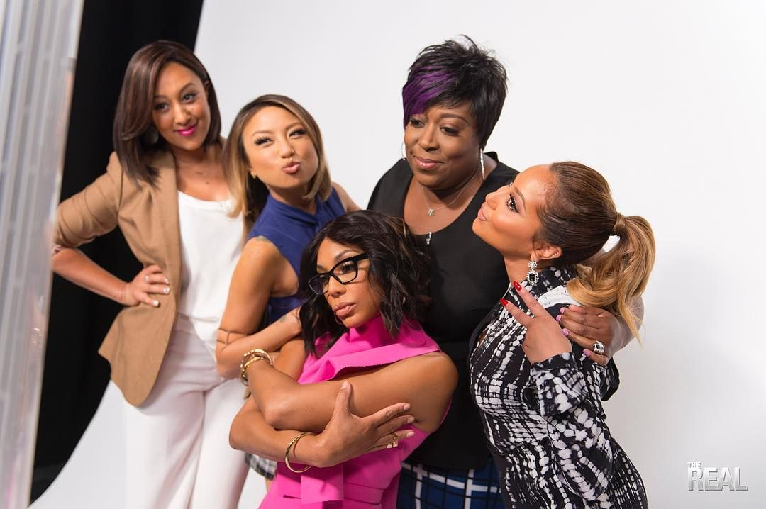 """The Real"" is led by five bold, diverse and outspoken hosts - Tamar Braxton, Tamera Mowry, Loni Love, Jeannie Mai, and Adrienne Bailon."