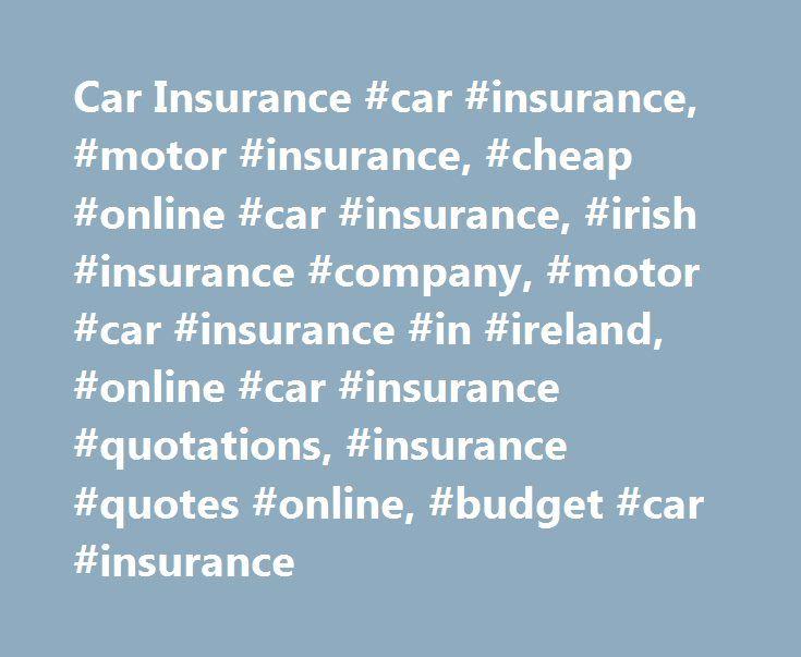Car Insurance Car Insurance Motor Insurance Cheap Online