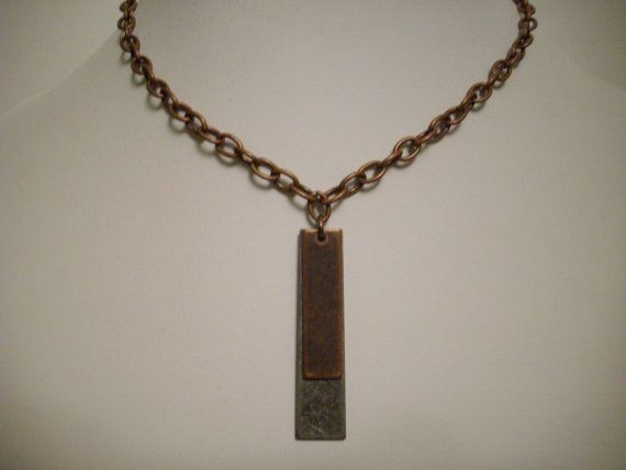 Antique Silver and Copper Rectangular by DesignsbyPattiLynn, $30.00