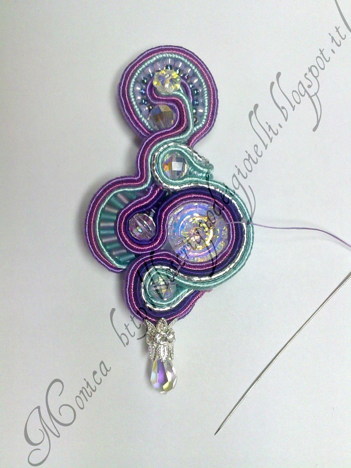 El arca de las joyas pendientes tutoriales y soutaches anillo