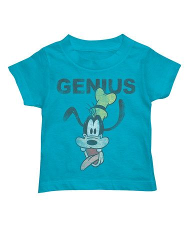 This Turquoise 'Genius' Goofy Tee - Kids is perfect! #zulilyfinds