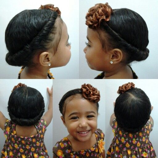 Hairstyles For Girls With Mixed Hair: Mixed Girls Hairstyles. Hair Twist Into A Headband