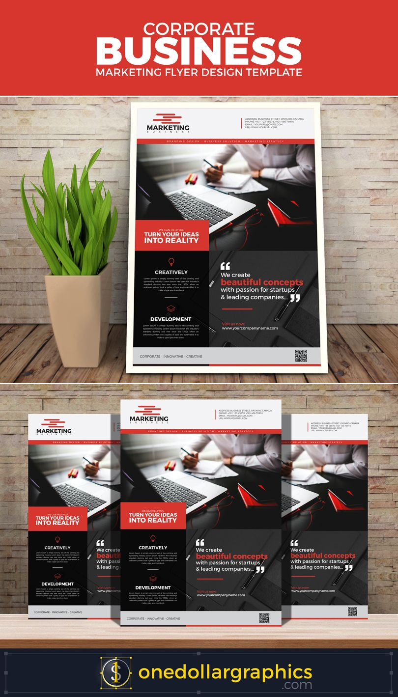 CorporateBusinessMarketingFlyerDesignTemplate  Brochures And