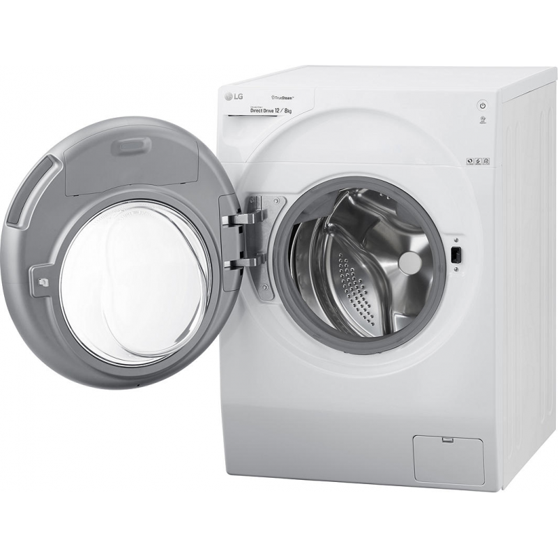 Lg Fh6g1bch2n Truesteam 12kg Wash 8kg Dry Freestanding Washer Dryer White Best Buy Cyprus Washer Dryers Laundry