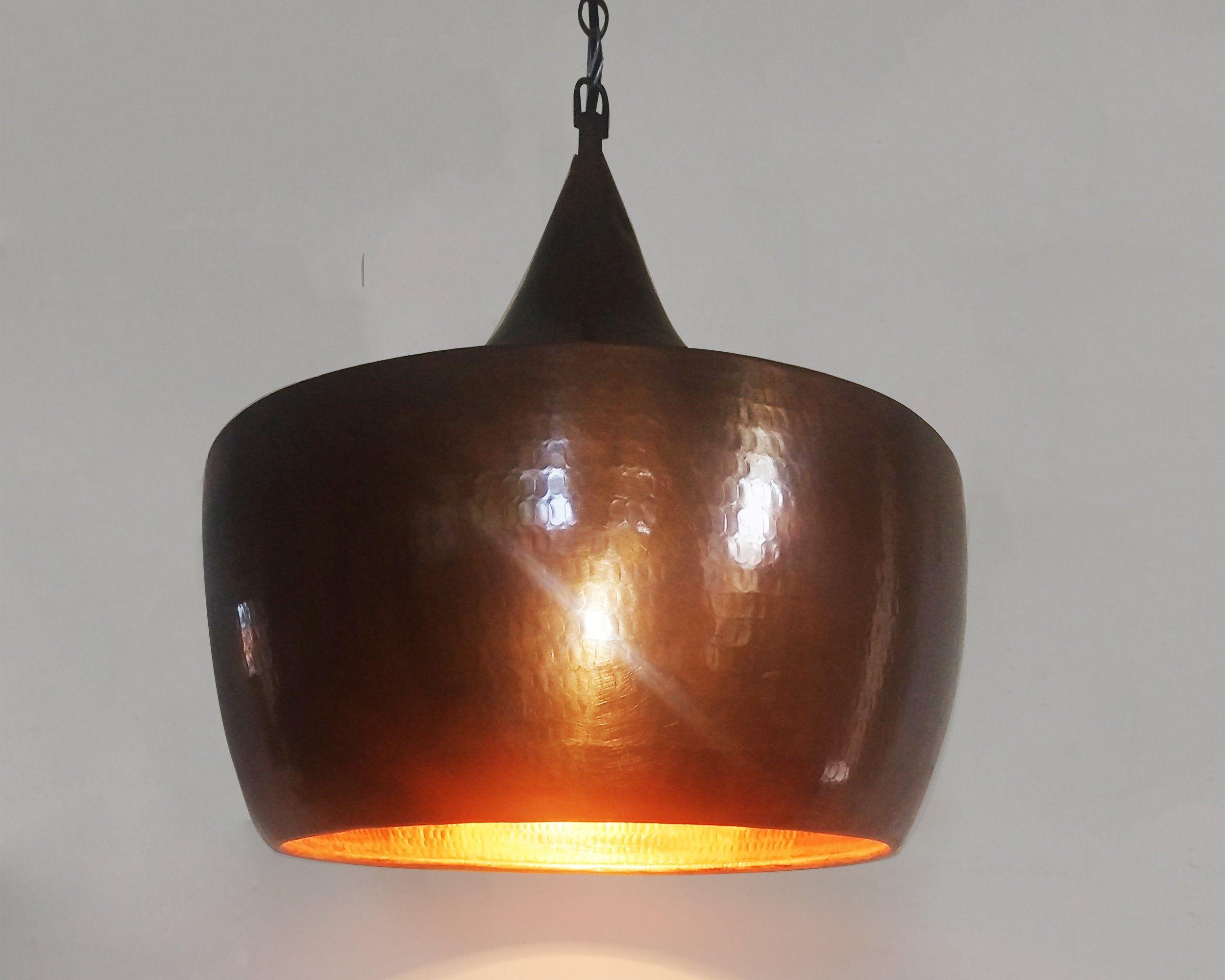 Scandinavian Brown Copper Pendant Light Hammered Copper Light Copper Industrial Lamp Copper Kitch Copper Lampshade Copper Light Fixture Copper Lighting