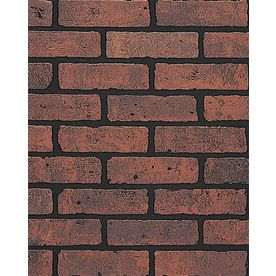 Shop Dpi 47 75 In X 7 98 Ft Embossed Ash Hardboard Wall Panel At Lowe S Faux Brick Wall Panels Brick Wall Paneling Wall Paneling