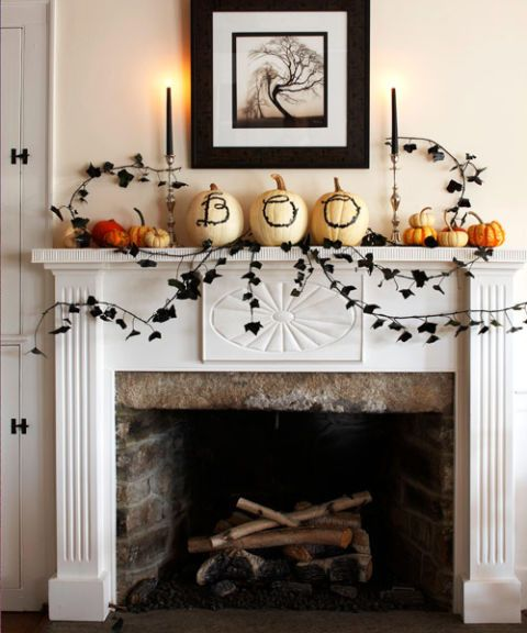 14 Ideas for a Special Halloween 10Fireplace Display DIY