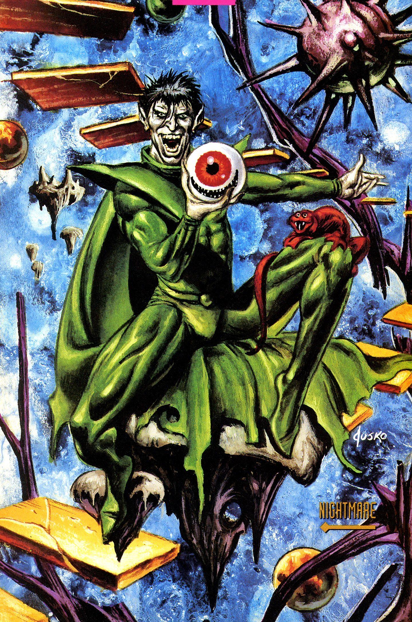 nightmare by joe jusko marvel villains pinterest