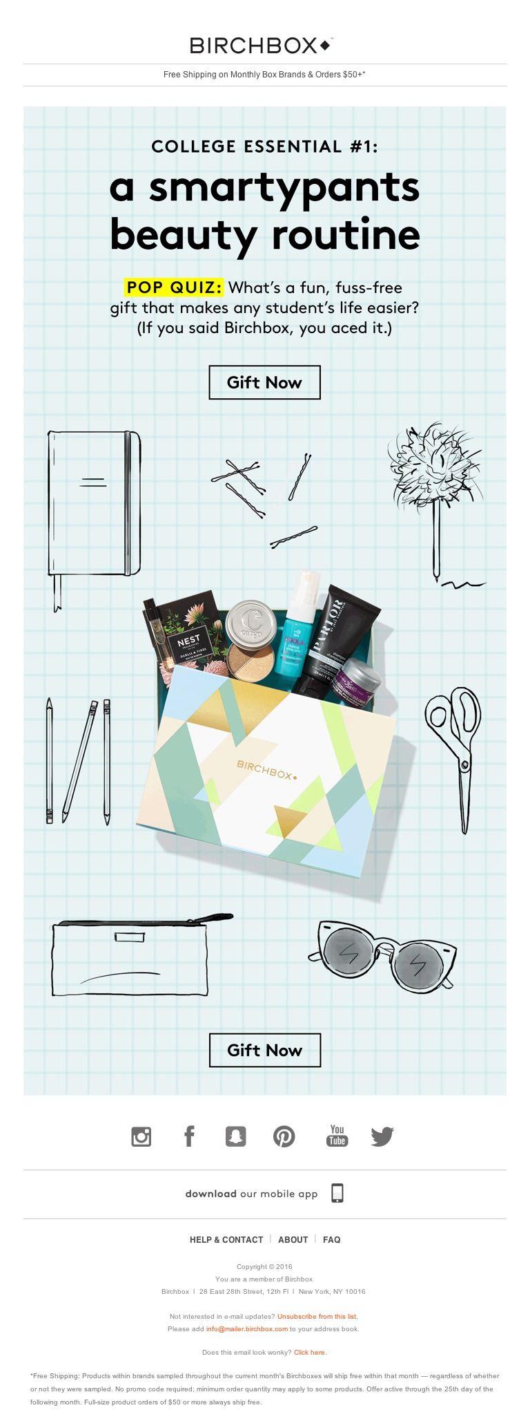 Birchbox - Laptop ✓ Coffeemaker ✓ Beauty Routine ✓