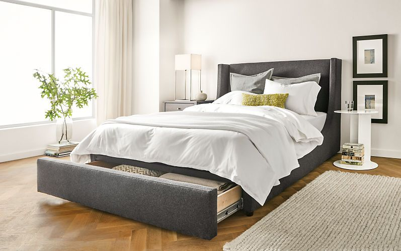 The Marlo Storage Bed Features The Same Distinctive Silhouette As