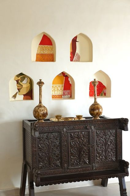 India 39 s mihir garh hotel love this idea for small niches for Hotel home decor