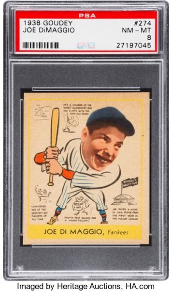 Baseball Cardssingles 1930 1939 1938 Goudey Joe Dimaggio
