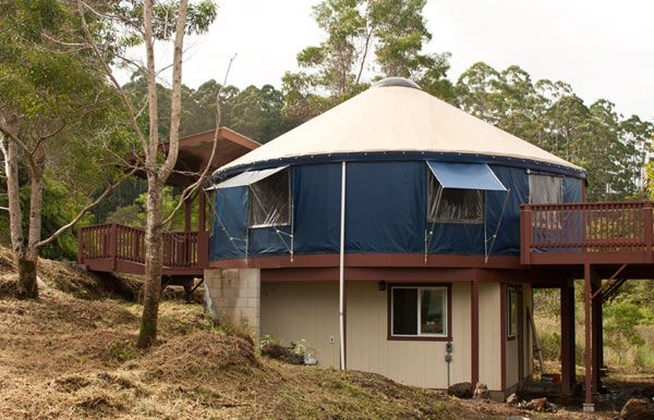 Two Story Yurt More Square Footage Upstairs Living