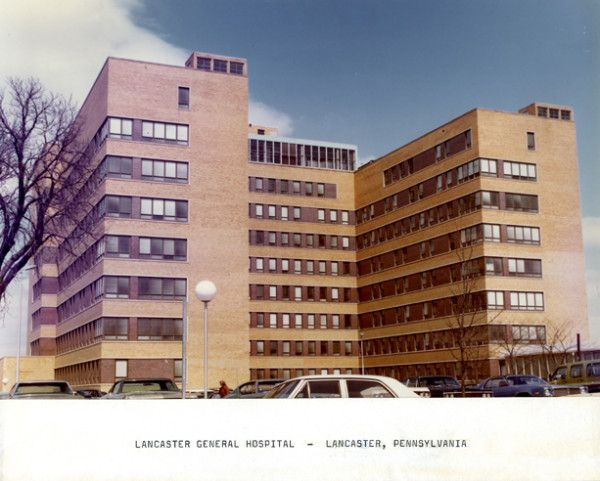 Lancaster General Hospital in Lancaster, PA, as it looked