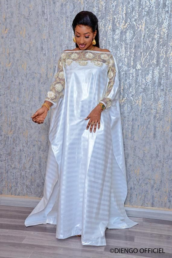 Premium Getzner magnum gold African dress/African