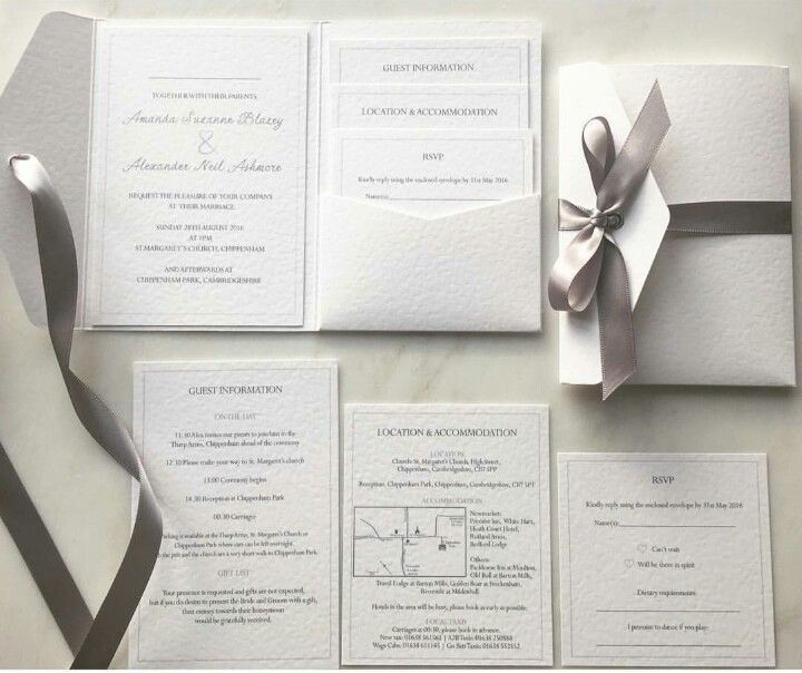 white silver and dove grey wedding invitation suite ml in 2018