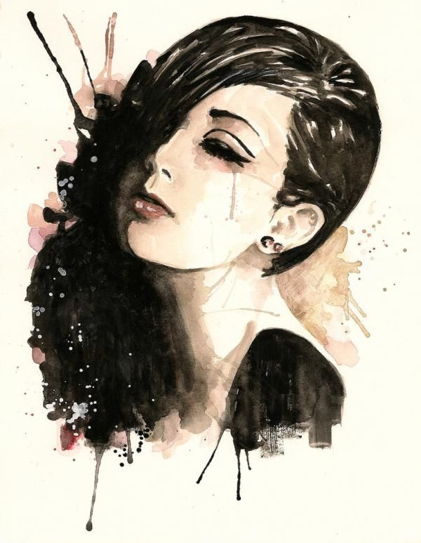Watercolor Paintings By Rosaria Battiloro Shades Of Black Art
