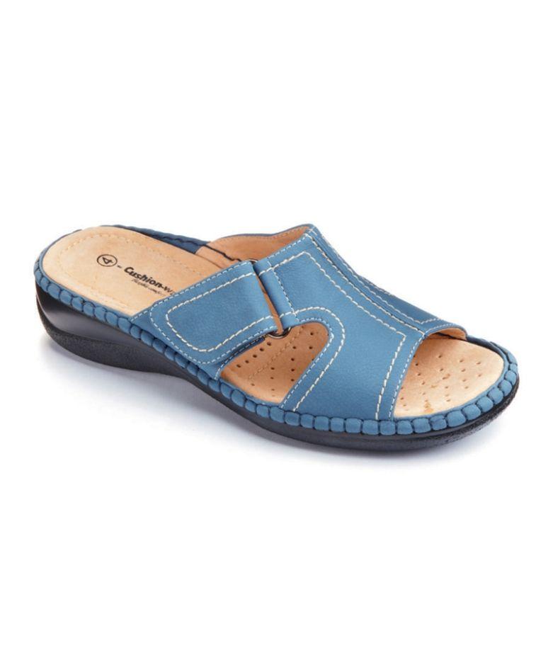 Cushion-Walk Open Toe Mules E Fit
