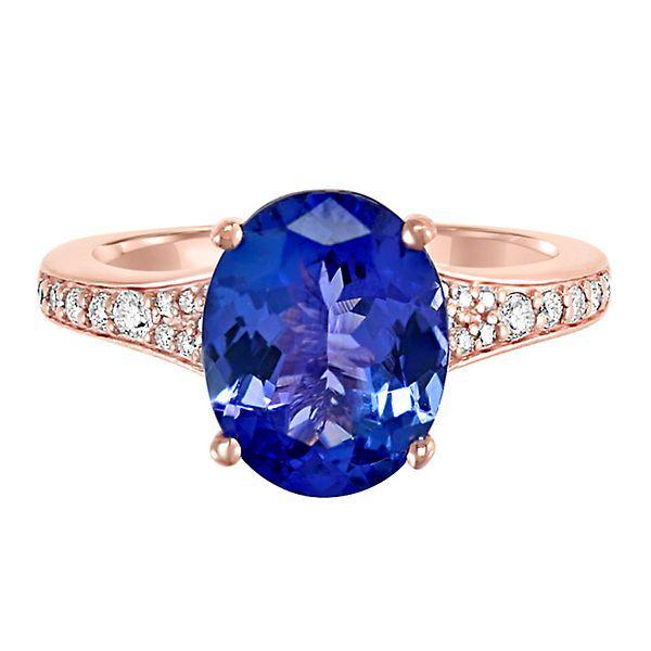 EFFY® Tanzanite & 1/4 ct. tw. Diamond Ring in 14K Rose Gold