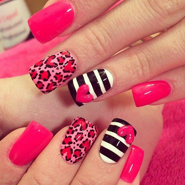 Easy valentines day nail art ideas nail nail make up and manicure easy valentines day nail art ideas prinsesfo Choice Image