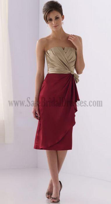 Pretty Wedding Guest Dress In Gold & Wine ~ | Fashion