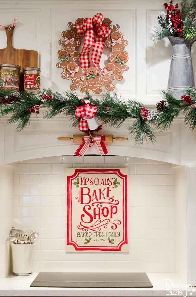 christmas home tour 2016 the kitchen design dazzle gingerbread christmas decor gingerbread - Gingerbread Christmas Decorations