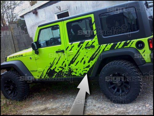 2007 2008 2009 2010 2011 2012 2013 Jeep Wrangler Vinyl Decal