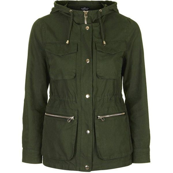 TopShop Petite Lightweight Hooded Jacket ($85) ❤ liked on ...