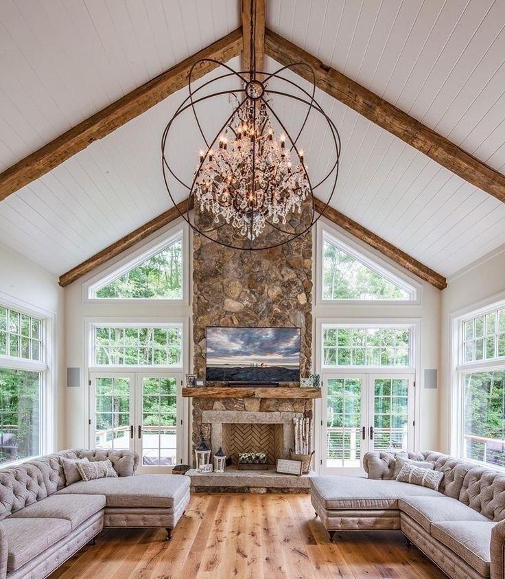 Vaulted ceiling living room design ideas (36) – designbyus.net #vaultedceilingdecor