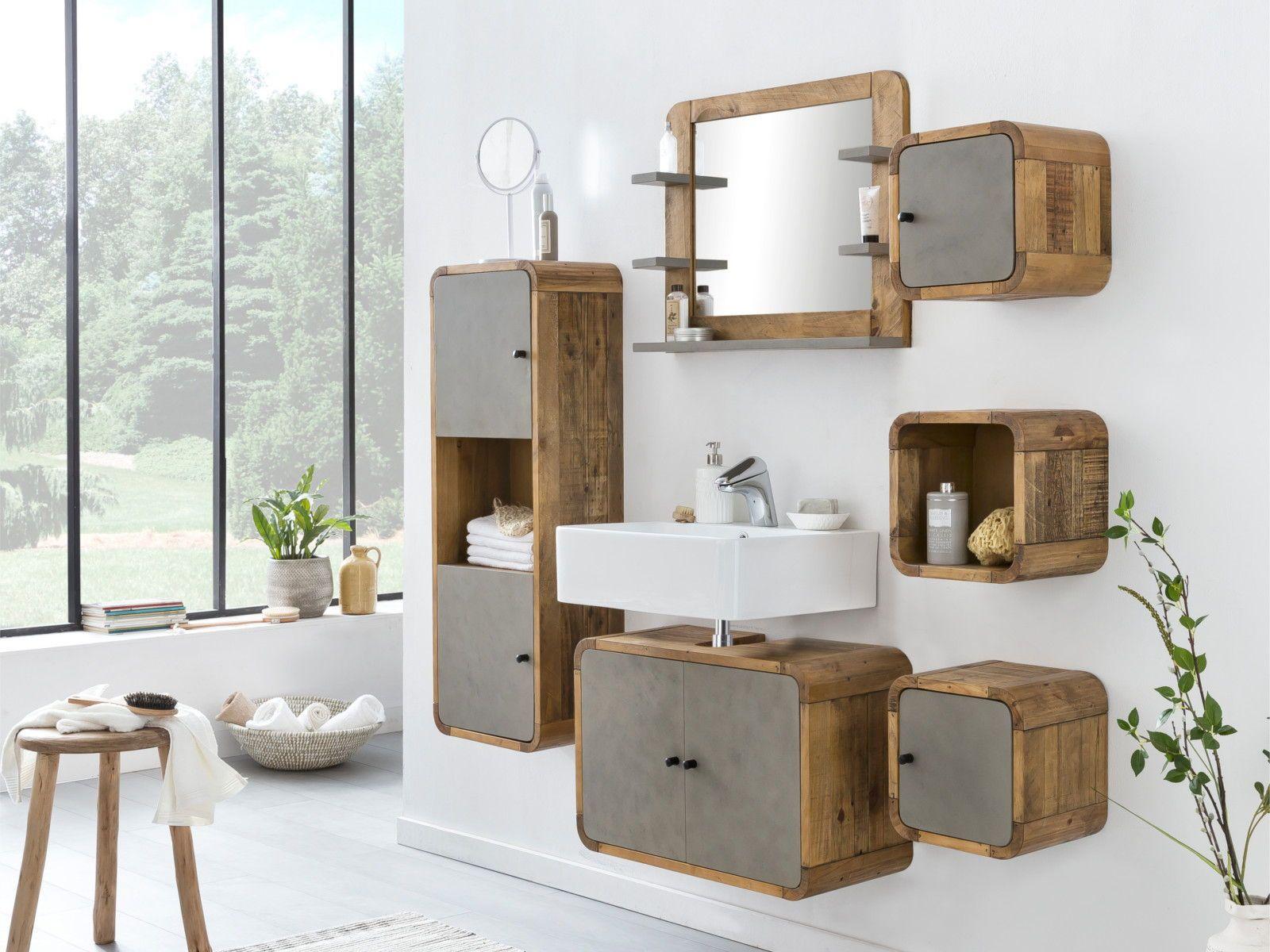 Badmobel Set Dingle Waschbeckenunterschrank Badezimmer
