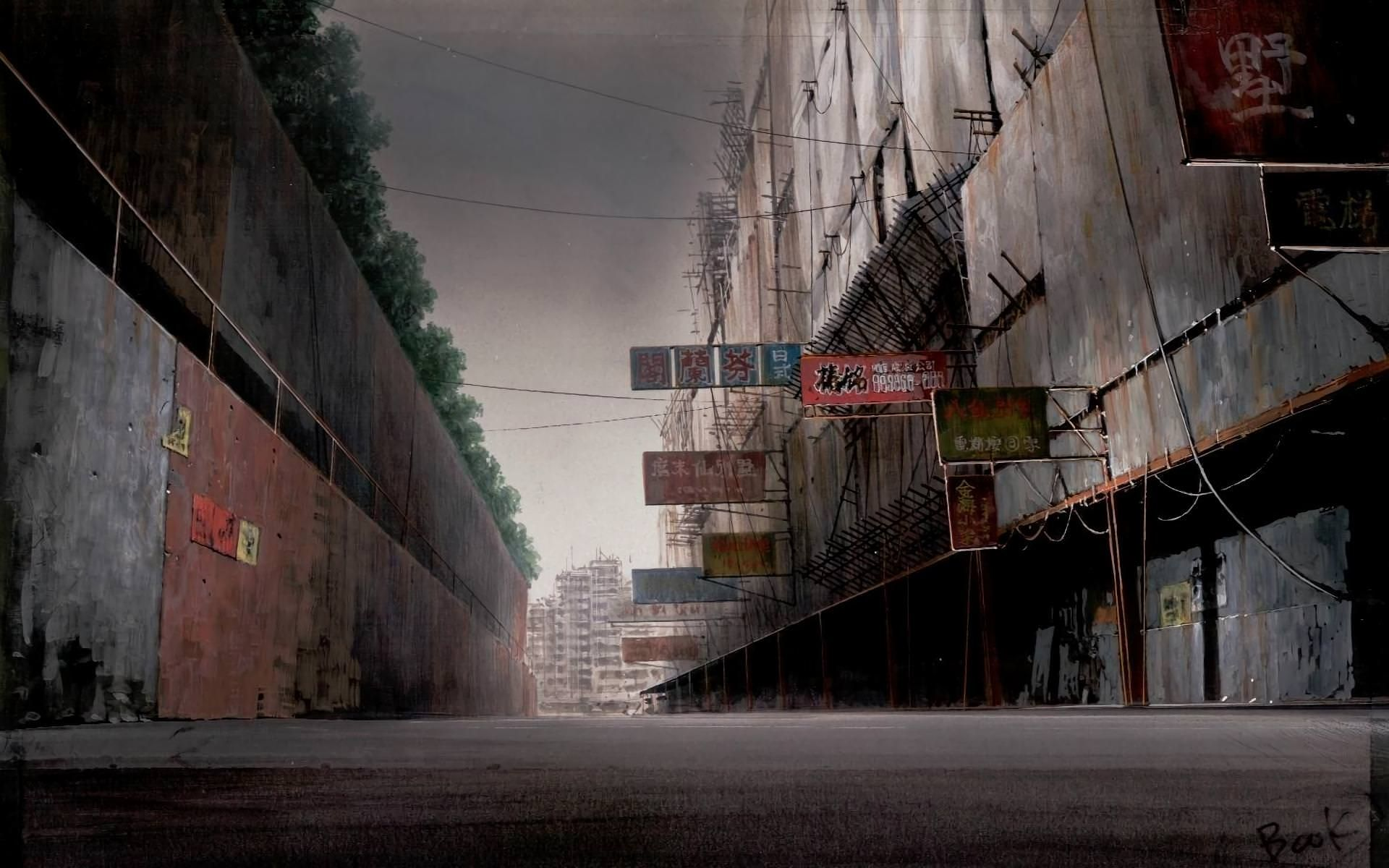 Forgotten Boundary 1920 1200 Ghost In The Shell Anime Scenery City Wallpaper