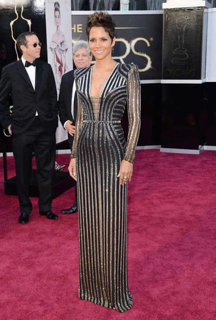 Halle Berry with a stunning Versace!