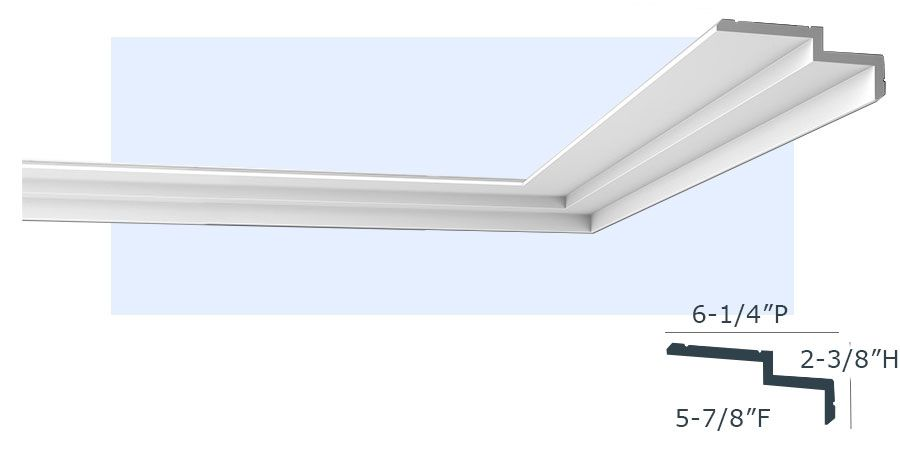 Chicago 2 Step Crown Molding