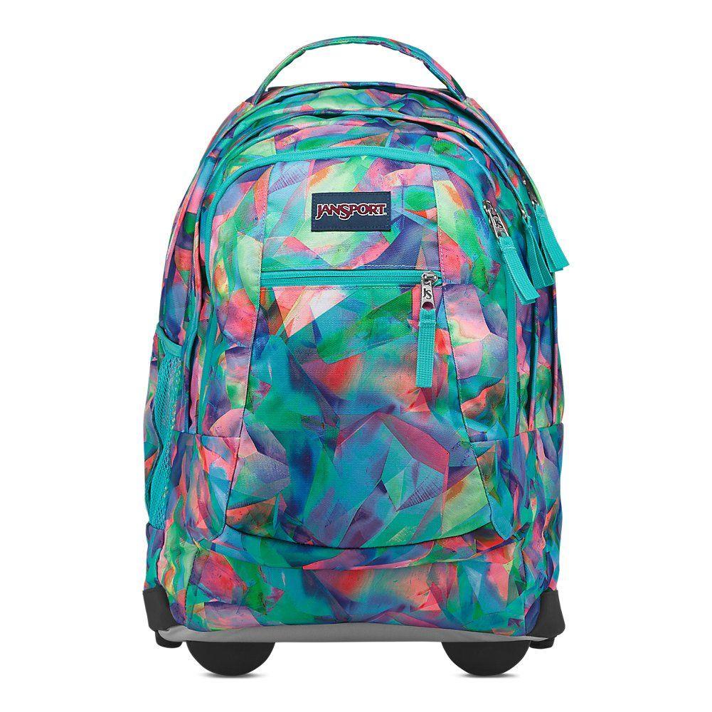 Jansport Driver 8 Rolling Laptop Backpack Crystal Light You Can Find More Details By Visiting Girls Rolling Backpack Rolling Backpack Backpack With Wheels