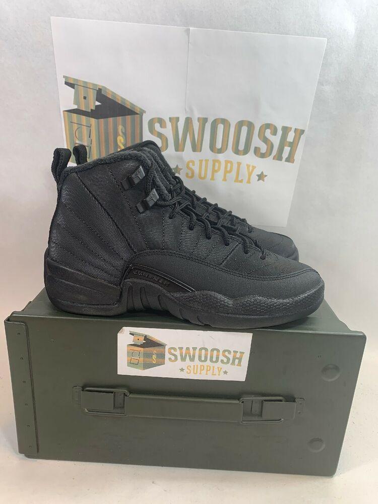 dda18854c71c Nike Air Jordan 12 XII Retro WNTR SZ 3.5Y Black Anthracite GS BQ6852-001   Jordan  Athletic
