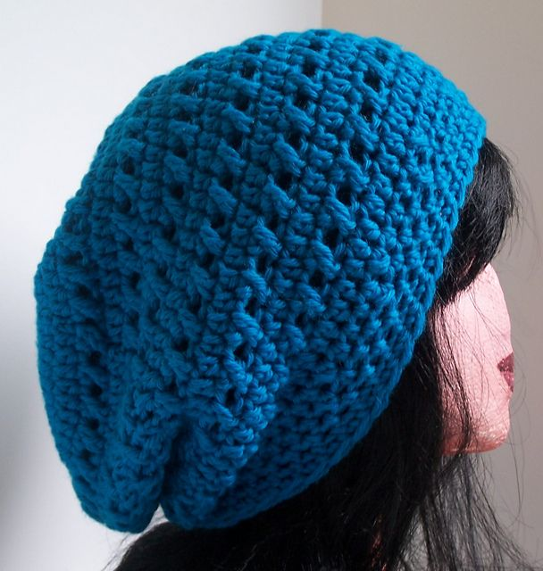 Ravelry: Kisses Slouchy Beanie pattern by Kristina Olson | Crochet ...