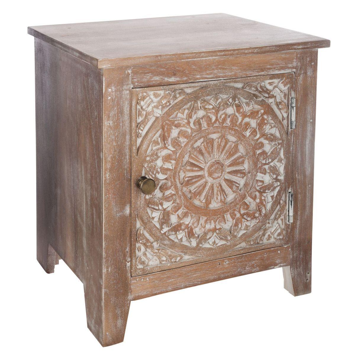 Table De Chevet Ethnique Shirel L 40 X H 45 Cm Taille
