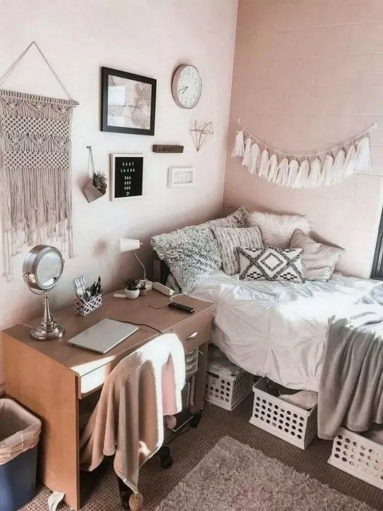 42 Lovely dorm room ideas in 2019 #dormroomideas #dormroom #bedroomideas ⋆ newport-international-group.com #dormroomideas