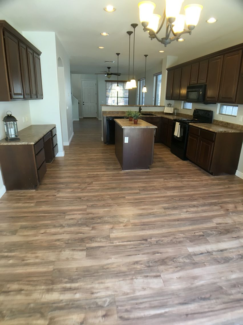 Lakeshore pecan flooring from Home Depot and Dunn Edwards